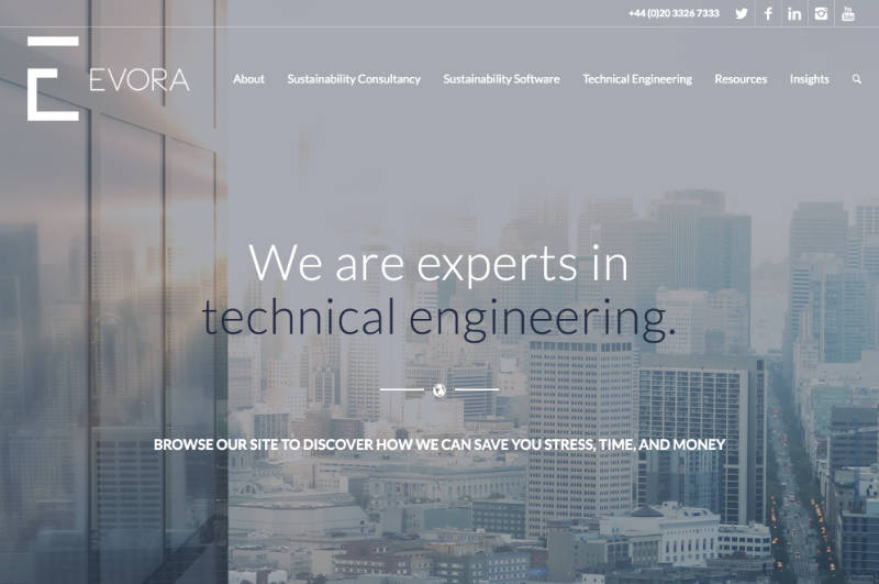 Evora – a website in Xander Gottlieb's design & development portfolio