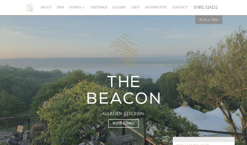 The Beacon – a website in Xander Gottlieb's design & development portfolio